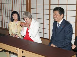 英国のメイ首相が初来日 京都で...