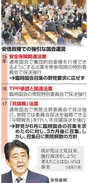 解散のための臨時国会、法案提出なし 野党「憲法違反」:朝日新聞デジタル