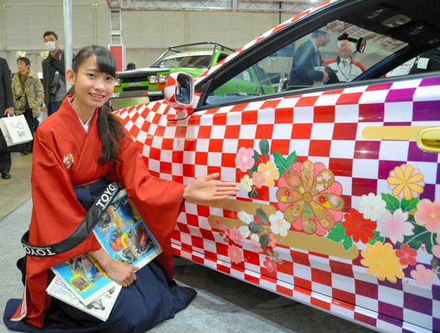 【社会】屋根にお城! ド派手な「日本車」、整備士の卵が制作 ->画像>26枚