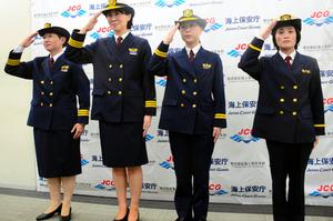 愛知)海上保安官も女性幹部続々...