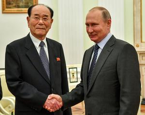 プーチン氏、北朝鮮高官と会談「...