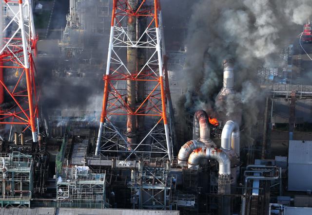 三井化学大阪工場で出火、けが人...