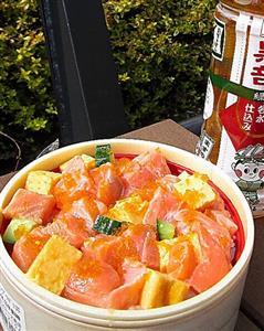 海鮮ますのぶつぎり丼@JR富山駅