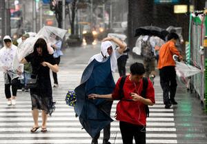 台風7号強風でけが人相次ぐ 4日...