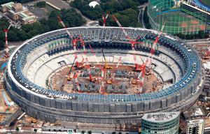 新国立競技場、工事は全体の4割...