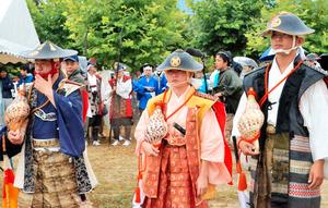 福島)標葉郷の中2少女、法螺貝吹いて武者を鼓舞