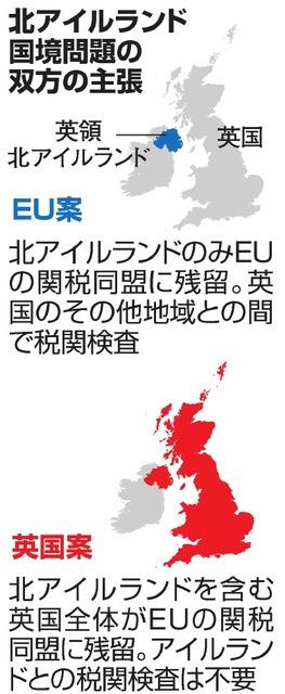英離脱交渉、1カ月延長も 北アイ...