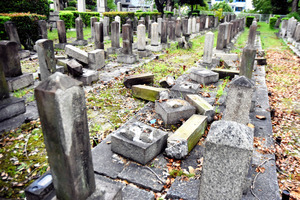 碑の7割にヒビ、荒れる陸軍墓地 補修は押しつけ合いに:朝日新聞デジタル
