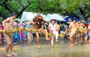 鹿児島)豊年踊り 笑い誘う 奄美・油井集落