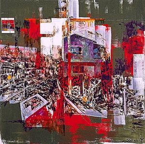 横尾忠則 暗夜光路 2001年9月11日 2001年 原美術館蔵