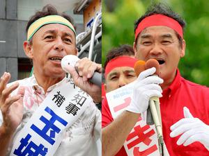 沖縄知事選、30日投開票 台風で...