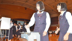 高知)山田高で選挙権啓発「出前授業」 模擬投票など