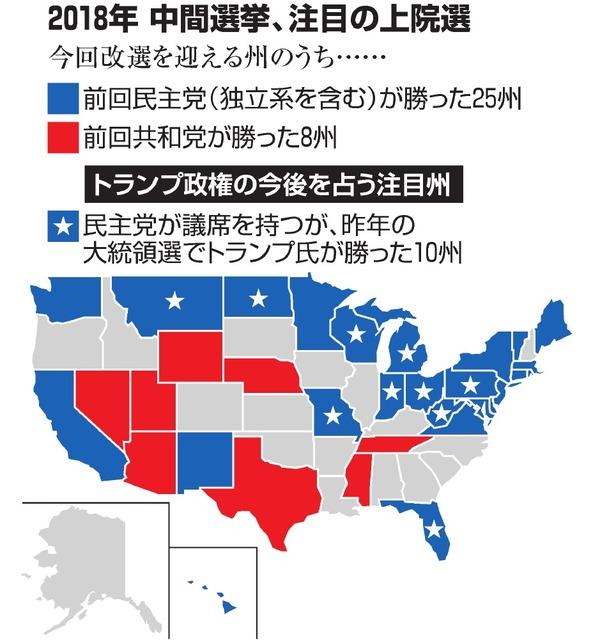 米中間選、注目ポイントは 分断強めるトランプ氏に審判:朝日新聞デジタル