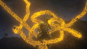 「GODZILLA 星を喰う者」から、ゴジラに襲いかかるギドラ (C)2018 TOHO CO., LTD.