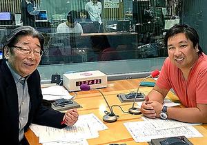 「サタデーバッテリートーク」の高嶋ひでたけ(左)と里崎智也
