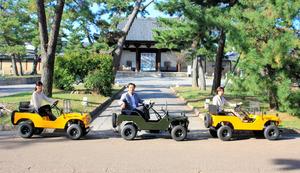 奈良)斑鳩観光はバギーに乗って「移動も楽しく」