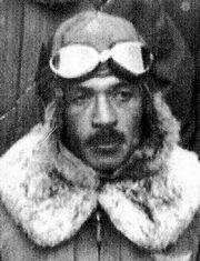 陸軍第32教育飛行隊長だった松本零士の父、松本強=松本零士氏提供