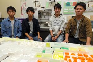 徳島)我が家の間取り、模型でイメージ 大学生が考案