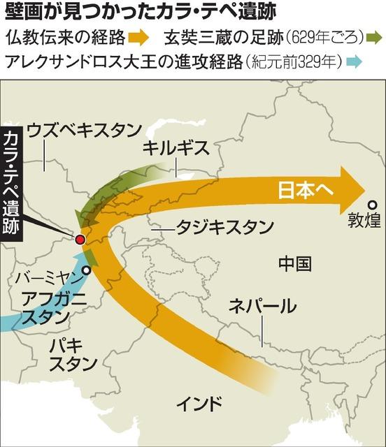 釈迦の生涯?多文化融合の壁画 2~3世紀の作か ウズベク:朝日新聞 ...