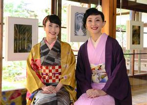 京都)清川あさみさんの原画展 糸で紡ぐ和歌の世界