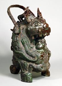 「虎●」(●は占の内側にカタカナの「コ」)=泉屋博古館蔵