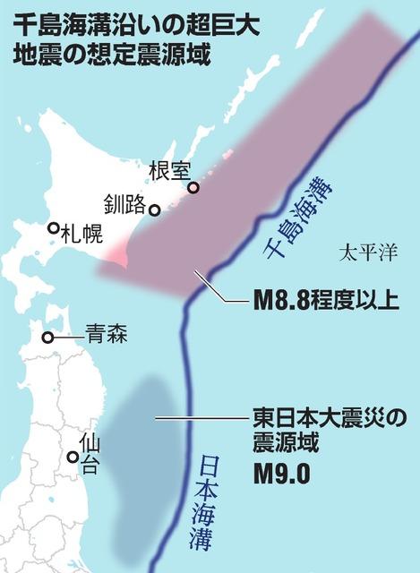 北海道沖地震、募る危機感 「千島海溝でM8.8以上、切迫性高い」国 ...