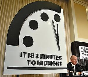 終末時計「残り2分」のまま 米科学者ら、地球滅亡カウント