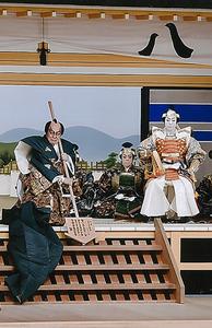 「一谷嫩軍記 熊谷陣屋」。(左から)中村吉右衛門、尾上菊之助(C)松竹