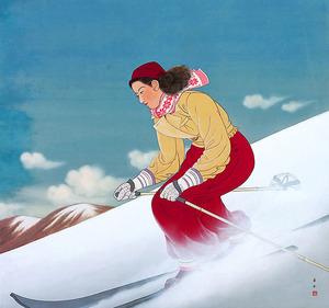 「雪晴」=島根県立石見美術館蔵