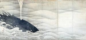 伊藤若冲「象と鯨図屛風」(1797年、滋賀・MIHO MUSEUM蔵)
