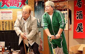 1月13日放送の「東北魂TV」では、サンドウィッチマンの2人が「昔売れた漫才師」に扮する自虐ネタも