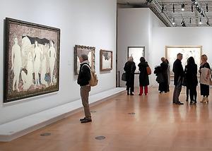 今年1~3月に開かれた「藤田嗣治:生涯の作品(1886-1968)」展=パリ日本文化会館、(C)Hiroyuki Sawada、国際交流基金提供