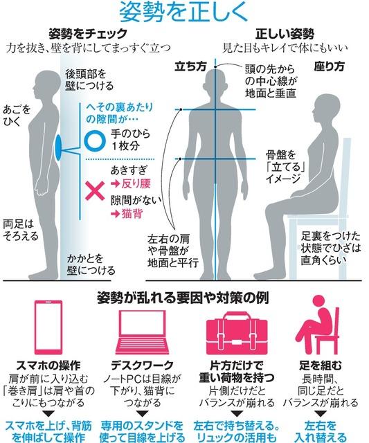 一見姿勢よく見えても…ご注意 猫背・反り腰をチェック:朝日新聞デジタル
