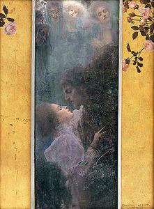 グスタフ・クリムト「愛」(「アレゴリー:新連作」のための原画 No.46、1895年 ウィーン・ミュージアム蔵) (C)Wien Museum / Foto Peter Kainz