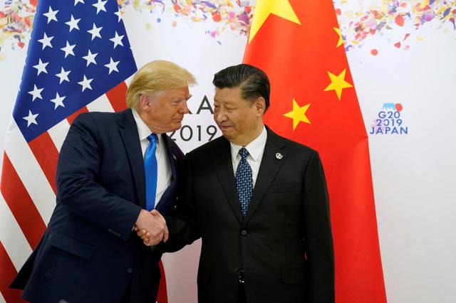 トランプ氏「少しつまずいたが、きっと合意」習氏と握手 [G20大阪 ...