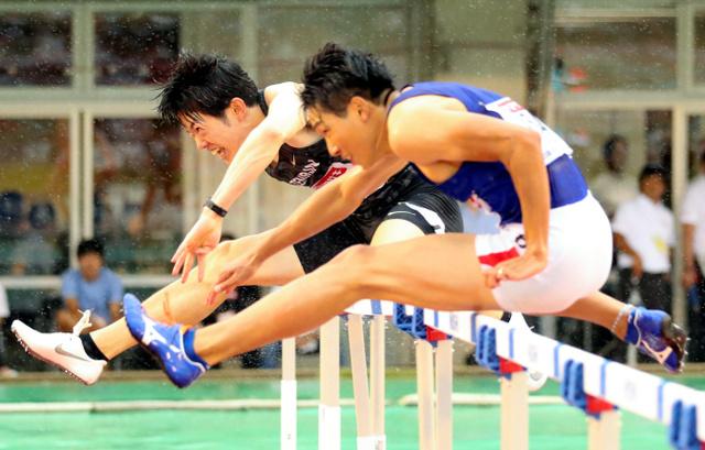 1000分の2秒差の大接戦 110M障害、高山が制す - 一般スポーツ ...