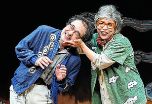 松尾スズキ(左)と安藤玉恵=引地信彦氏撮影
