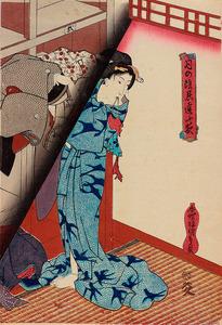 「月の陰忍逢ふ夜 湯上がり」=太田記念美術館蔵