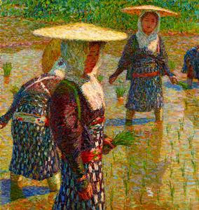 「田植」(1916年)=東京国立近代美術館蔵