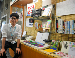佐賀)SAGAとSEGAのコラボ企画 県立図書館