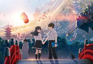 20日から全国公開中のアニメ映画「HELLO WORLD」メインビジュアル (C)2019「HELLO WORLD」製作委員会
