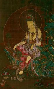 「水月観音像」=重要文化財、京都・泉屋博古館蔵