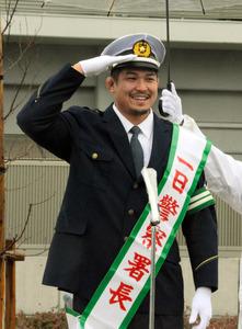 違反すると免許ジャッカル」 姫野和樹選手が1日署長:朝日新聞デジタル