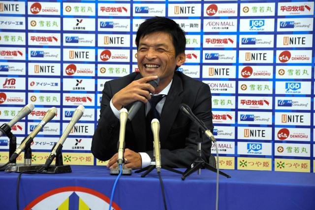 山形)モンテ石丸監督が就任会見「J1昇格へ取り組む」:朝日新聞デジタル