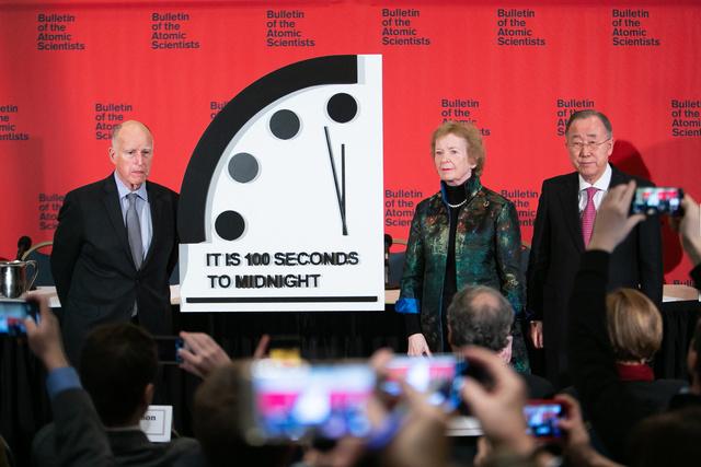 終末時計「残り100秒」 20秒進み史上最短:朝日新聞デジタル