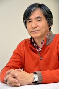 中島かずきさん。2014年4月、「映画クレヨンしんちゃん ガチンコ!逆襲のロボとーちゃん」公開時の取材で撮影しました