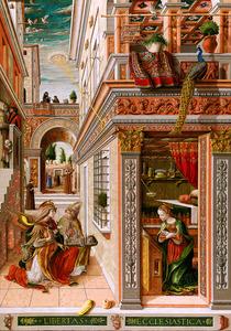 「聖エミディウスを伴う受胎告知」=ロンドン・ナショナル・ギャラリー蔵 (C)The National Gallery, London. Presented by Lord Taunton, 1864