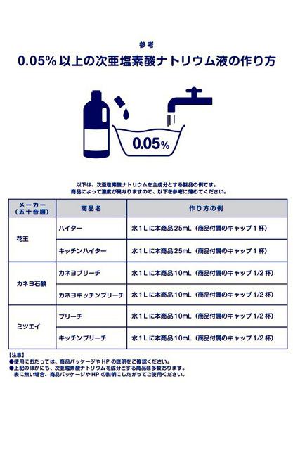 ハイター で 次 亜 塩素 酸 水