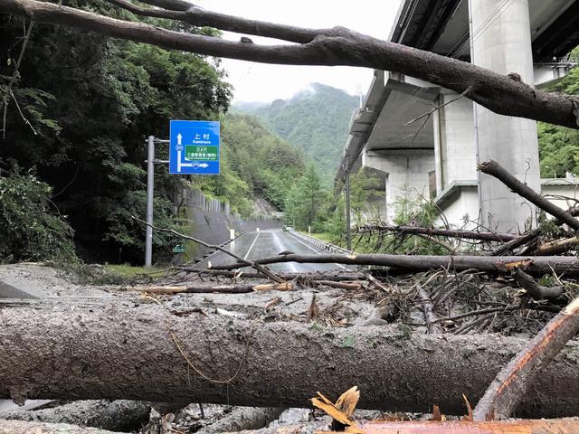土砂崩れ 喬 木村