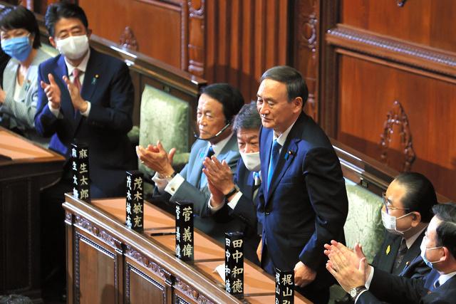 菅義偉氏を第99代首相に選出 今夜、菅内閣が発足へ